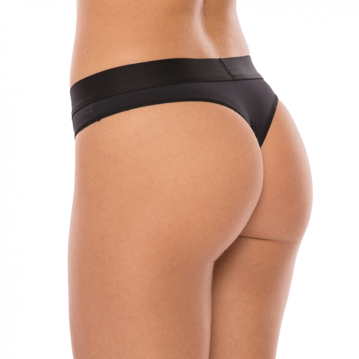 Comfy Womens String Performance Black (2 Pack)