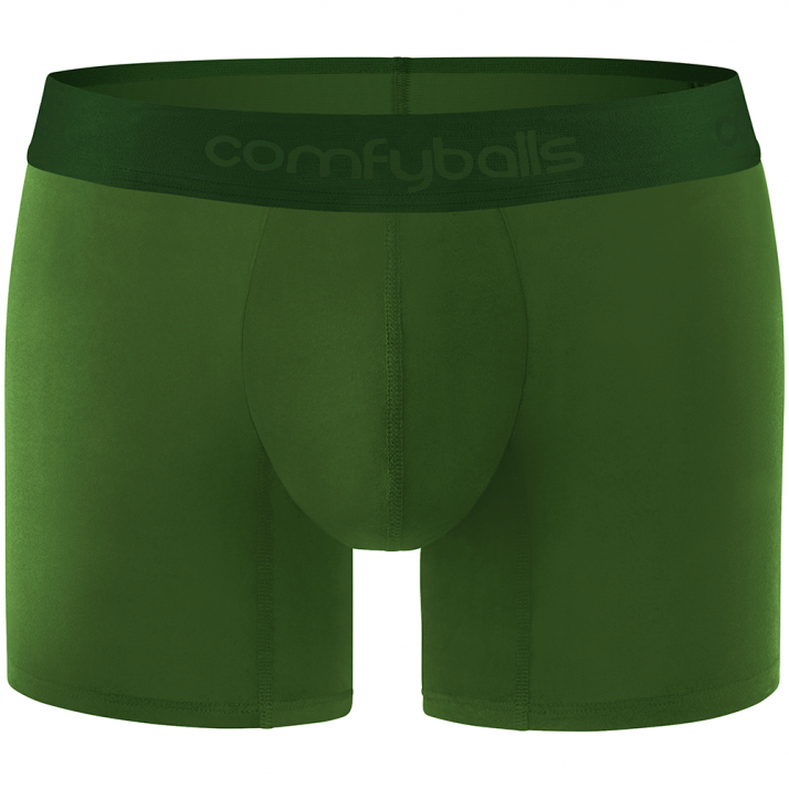 Comfyballs Wood Long Olive Boxers