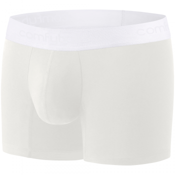 Comfyballs Cotton Long Ghost White Boxer