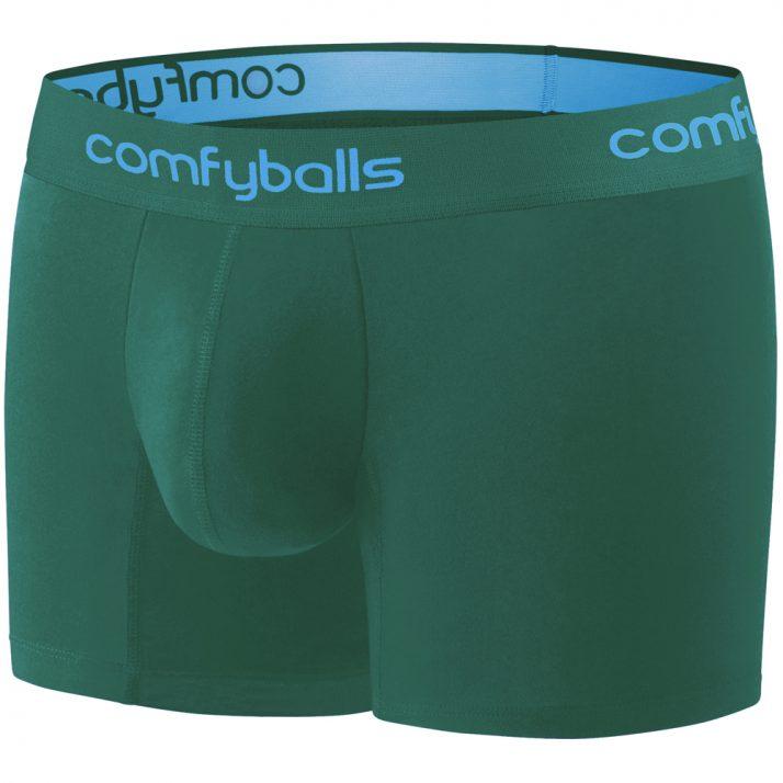 Comfyballs Cotton Long Spruce Green Boxer